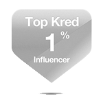 Kred Top 1% Influencer Badge