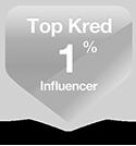 Kred Top 1% digital marketing influencer badge