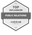 Kred Top Influencer in Public Relations badge
