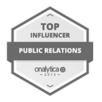 Top Public Relations Influencer badge