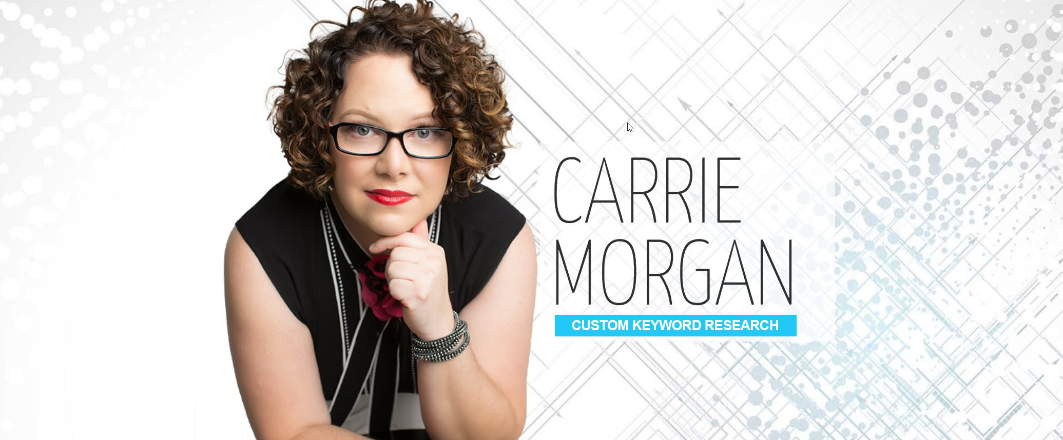Custom Keyword Research Specialist, Carrie Morgan, headshot image, Phoenix Arizona